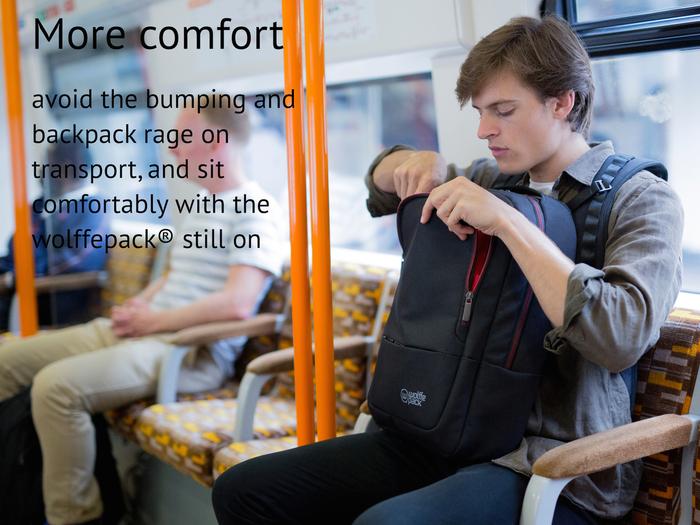 a14be5d48ff2 いちいち肩ベルトを外しリュックサックを下ろさずとも、素早く簡単な動作で、背中の荷物を前に移動させることができます。窮屈な状況下で、持ち物にすぐに手が届き、  ...